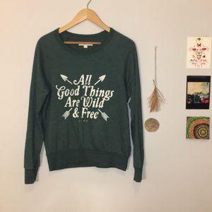 Spiritual Gangster Crew Neck Graphic Sweater